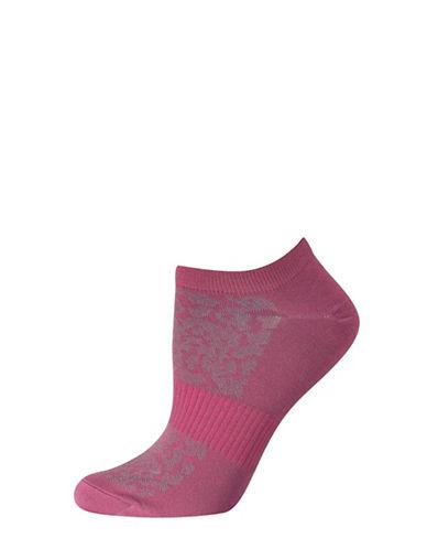 Silks Mesh Pattern No Show Socks-RED-One Size