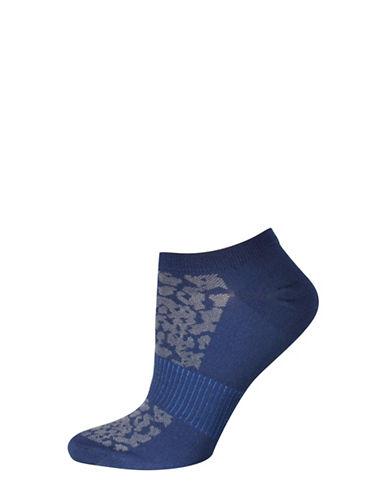 Silks Mesh Pattern No Show Socks-BLUE-One Size
