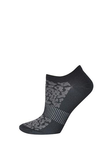 Silks Mesh Pattern No Show Socks-BLACK-One Size