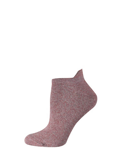 Silks Twist Tab Low Cut Socks-RED-One Size