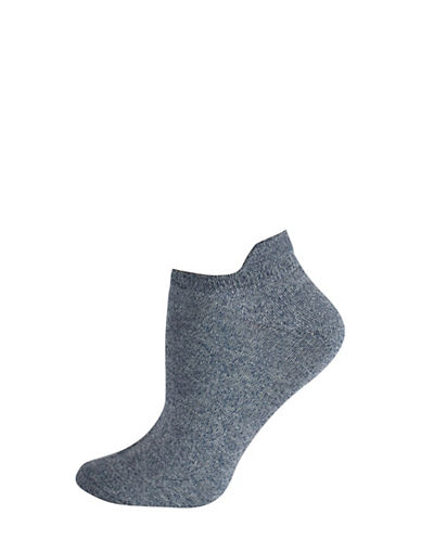 Silks Twist Tab Low Cut Socks-BLUE-One Size