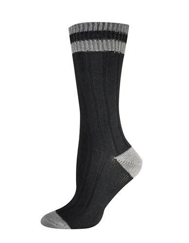 Silks Lurex Cabin Crew Socks-BLACK-One Size
