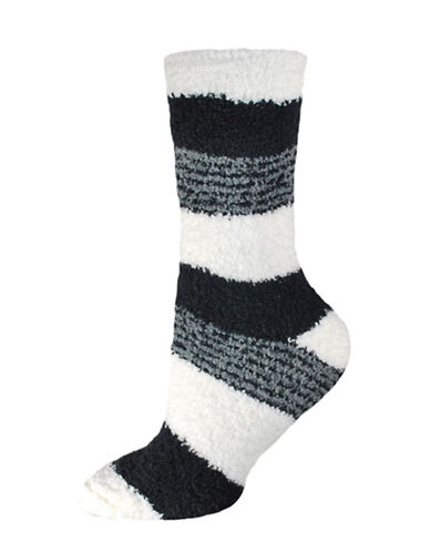 Silks Stripes Soapy Crew Socks-GREY-One Size