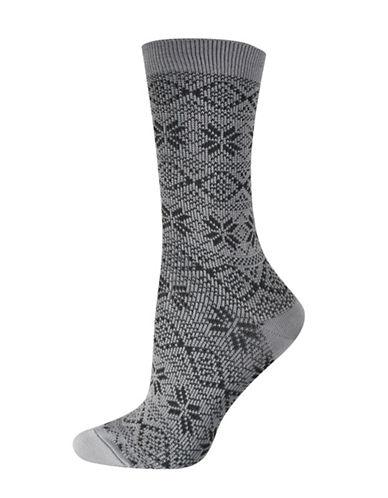 Silks Soft Nordic Crew Socks-GREY-One Size