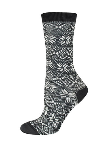Silks Soft Nordic Crew Socks-BLACK-One Size