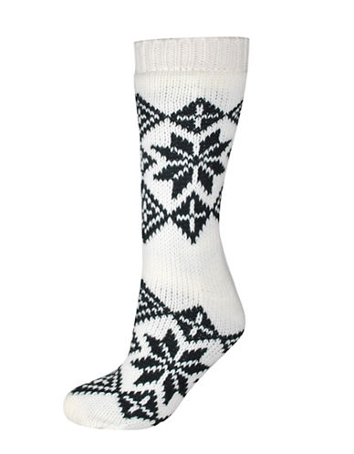 Silks Nordic Anti-Skid Crew Socks-CREAM-One Size