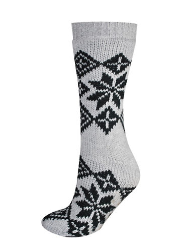 Silks Nordic Anti-Skid Crew Socks-GREY-One Size