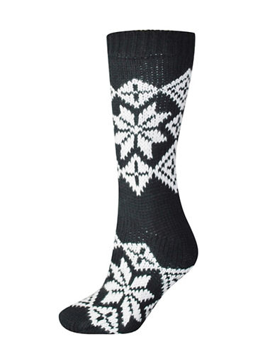 Silks Nordic Anti-Skid Crew Socks-BLACK-One Size