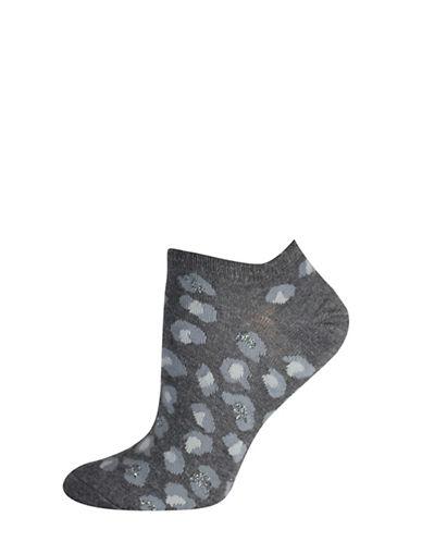 Silks Leopard Low Cut Socks-GREY-One Size