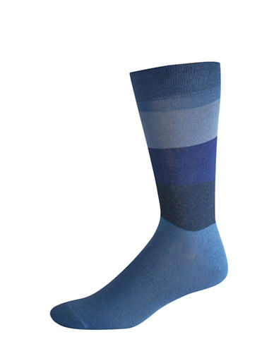 Jockey Two-Pack Colourblock Socks Set-BLUE-10