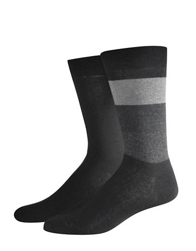 Jockey Two-Pack Colourblock Socks Set-BLACK-10