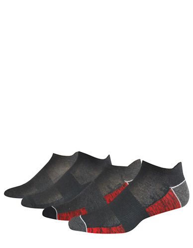 Jockey Four-Piece Low Cut Socks Set-BLACK-10-12