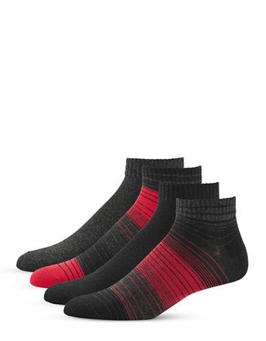 Jockey Four-Piece Multistripe Socks Set-BLACK-10-12