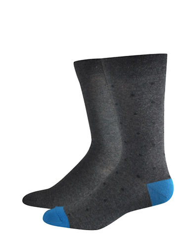 Jockey Two-Pack Casual Dot Socks Set-GREY-10