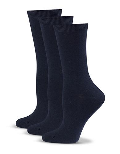 Jockey Three-Pack Crew Socks-NAVY-One Size