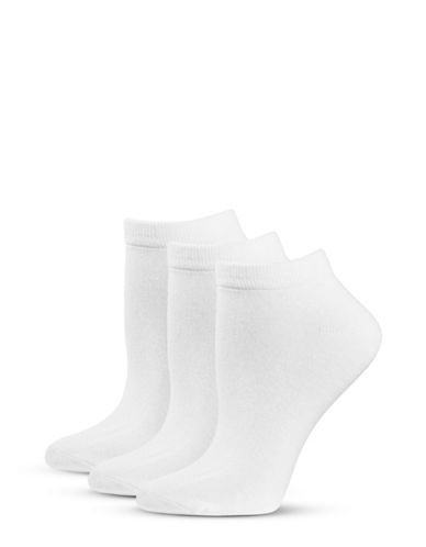 Jockey Three-Pair Elance Ankle Socks-WHITE-One Size 44266856_WHITE_One Size