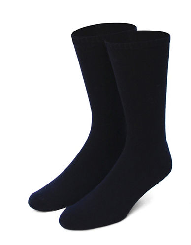 Jockey Mens Two-Pack Total Comfort Crew Socks-BLACK-7-12