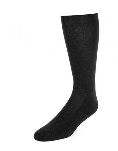 Jockey Mens Two-Pack Total Comfort Crew Socks-NAVY-7-12