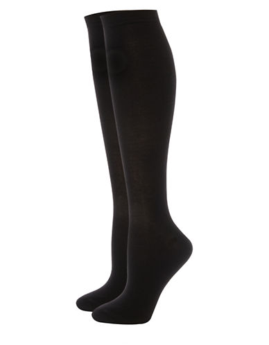 Jockey Elance Bamboo Knee-High Socks-BLACK-9-11