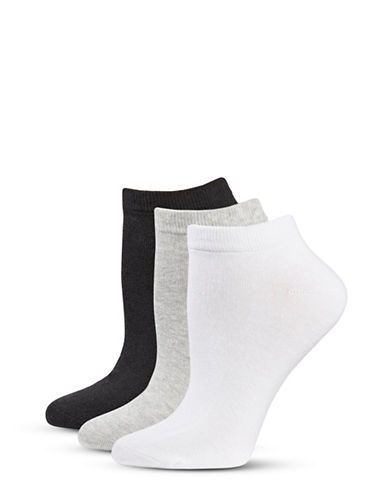 Jockey Three-Pair Elance Ankle Socks-ASSORTED-9-11