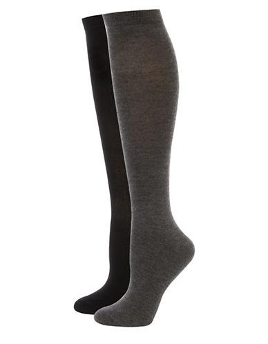 Jockey Elance Bamboo Knee-High Socks-GREY-One Size