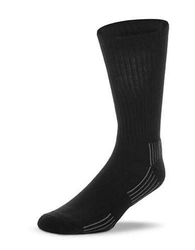 Jockey Mens Two-Pack Bamboo Cushioned Crew Socks-BLACK-7-12