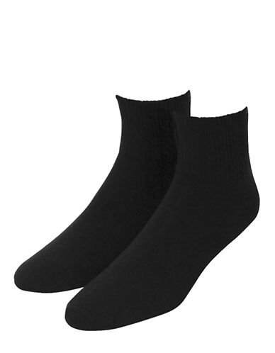 Jockey Mens Two-Pack Advantage Non Binding Dress Socks-BLACK-7-12