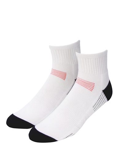 Jockey Mens 2-Pack Sport Performance Quarter Length Socks-WHITE-7-12