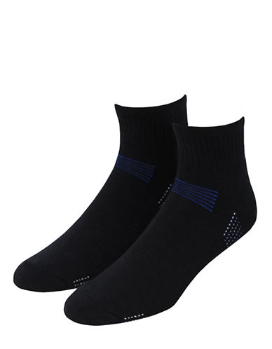 Jockey Mens 2-Pack Sport Performance Quarter Length Socks-BLACK-7-12