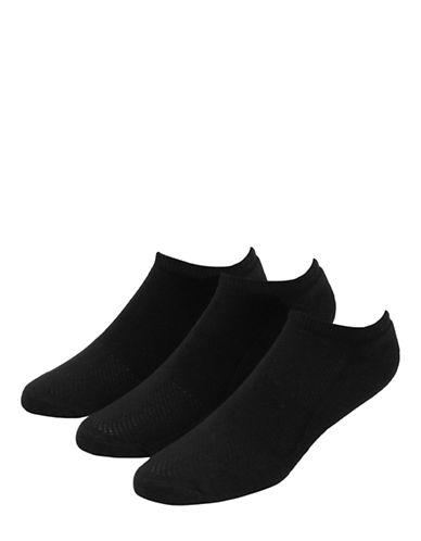 Jockey Mens Sport Golf Coolmax Low Cut Socks Three Pack-BLACK-7-12