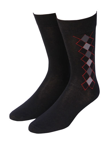 Jockey Mens Two-Pack Classic Crew Socks-BLACK-7-12