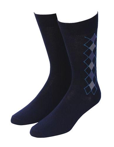 Jockey Mens Two-Pack Classic Crew Socks-NAVY-7-12