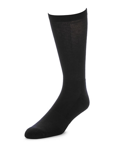 Jockey Mens Two-Pack Advantage Light Compression Socks-BLACK-7-12