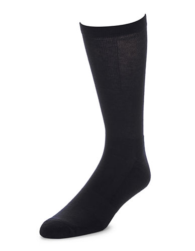 Jockey Mens Two-Pack Advantage Light Compression Socks-NAVY-7-12