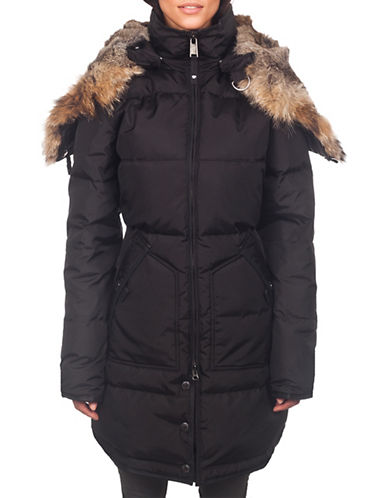 Pajar Long Fur Lined Hood Parka-BLACK-Large 88481683_BLACK_Large