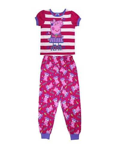 Jellifish Peppa Pig Two-piece Pyjama Set-PINK-2