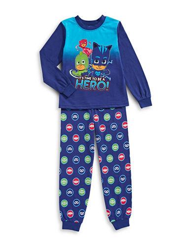 Jelli Fish Kids (Dd) Hero Two-Piece Printed Pyjama Set-NAVY-5