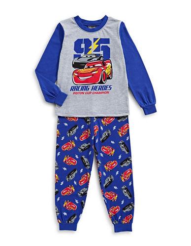 Jelli Fish Kids (Dd) Cars Two-Piece Printed Pyjama Set-BLUE-4