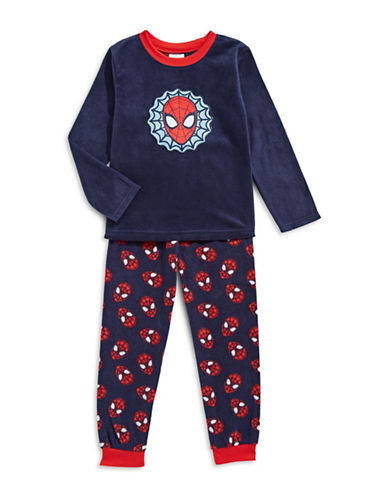 Jellifish Two-Piece Spiderman Pyjama Set-BLUE-5