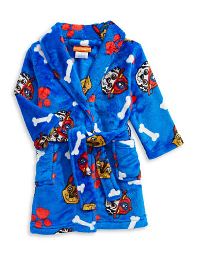 Jelli Fish Kids (Dd) Paw Patrol Velvet Robe-BLUE-6