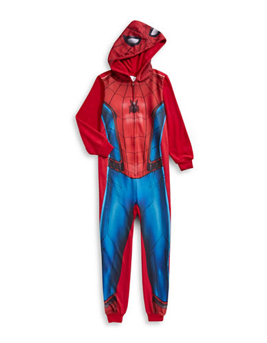 Jelli Fish Kids (Dd) One-Piece Spider-Man Pyjama-RED-Large