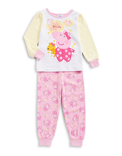 Jelli Fish Kids (Dd) Two-Piece Printed Pyjama Set-CREAM-3