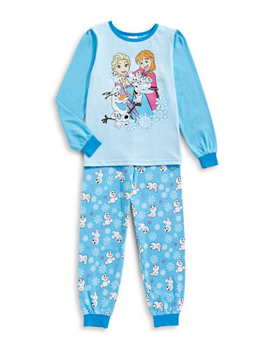 Jelli Fish Kids (Dd) Two-Piece Printed Pyjama Set-BLUE-2