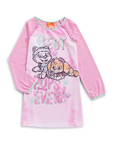 Jelli Fish Kids (Dd) Best Pups Long Sleeve Night Gown-PINK-3
