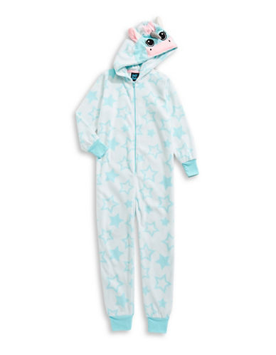 Jelli Fish Kids (Dd) Microfleece Critter Footed Pyjama-BLUE-16