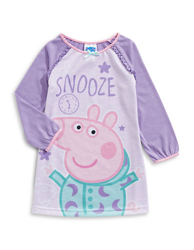 Jelli Fish Kids (Dd) Peppa Pig Night Gown-PURPLE-2