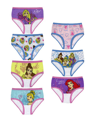 Jellifish Girls Seven-Pack Princess Cotton Brief Set-ASSORTED-6
