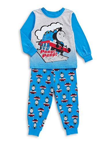 Jelli Fish Kids (Dd) Tow-Piece Thomas Tank Engine Pyjama Set-BLUE-4