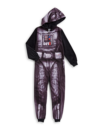 Jelli Fish Kids (Dd) One-Piece Darth Vader Pyjama-BLACK-XSmall