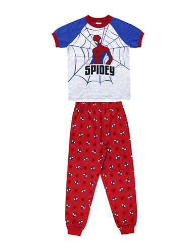 Jellifish Two-Piece Spiderman Top and Pants Set-BLUE-2